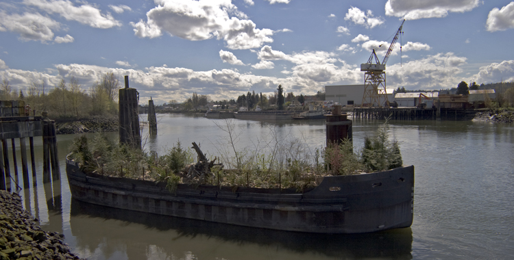 The Living Barge on display, April 2006. Photo by Mark Sullo.