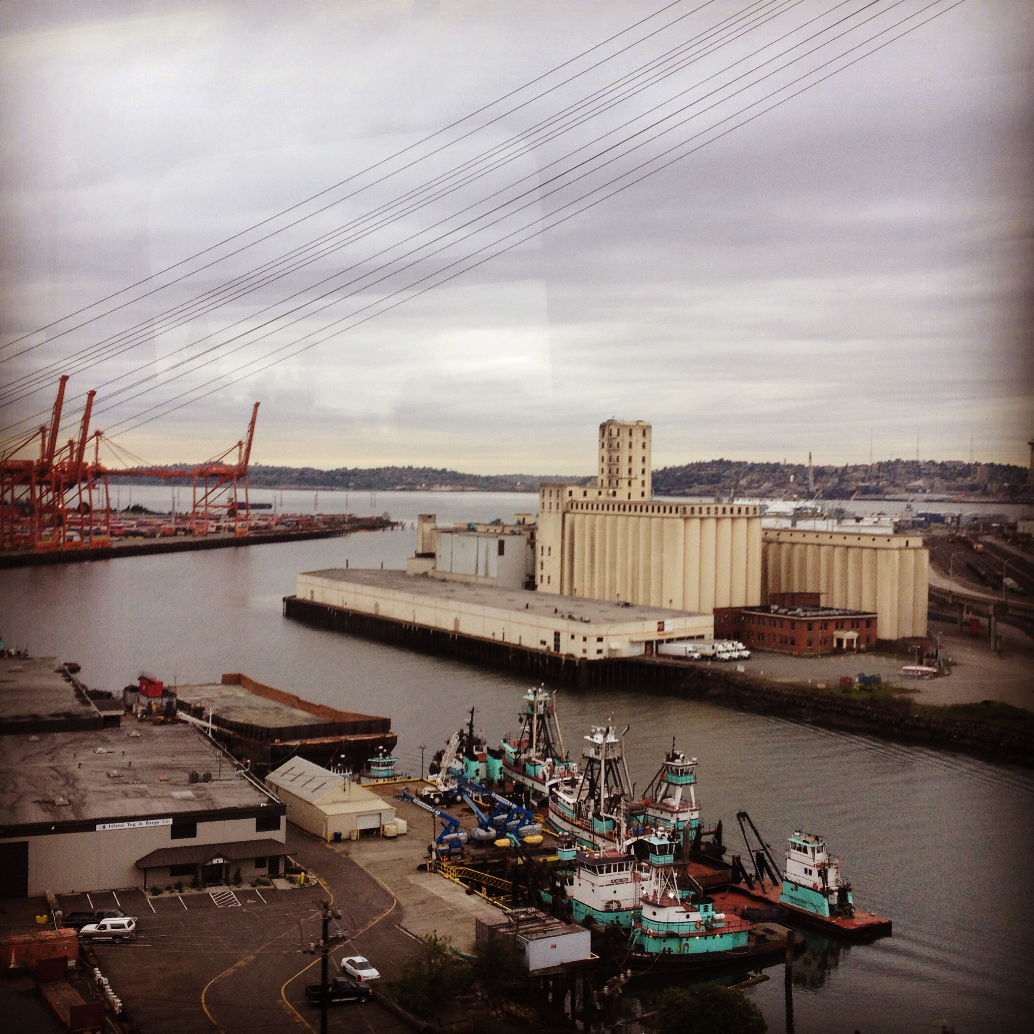 Harbor Island and the mouth of the Duwamish River, Seattle